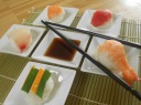 Nigiri Sushi with Red Tuna, Salmon, Shrimp and Tilapia